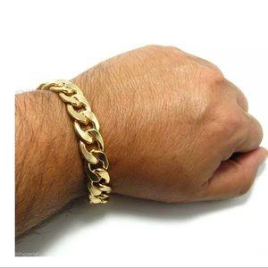 Other - Cuban Link Alloy Bracelet 14mm Thick